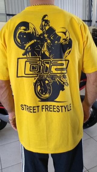 Camiseta 012 Stunt Parts Grau E Corte Algodão