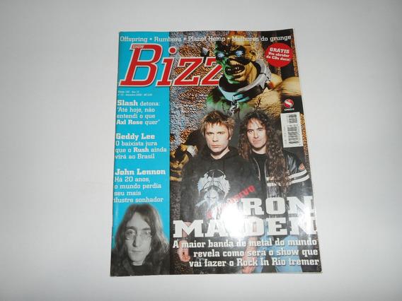 Revista Bizz - Iron Maiden - Slash, John Lennon, Planet Hemp
