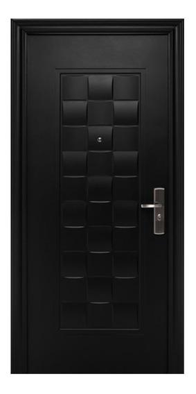 Puerta De Seguridad Xe Luxury Negra Apertura Izq