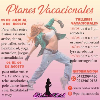 Planes Vacacionales Para Niñas, Clases Permanentes De Danza.