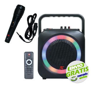 Parlante Karaoke Bluetooth Senon F906b 30w Usb Microfono