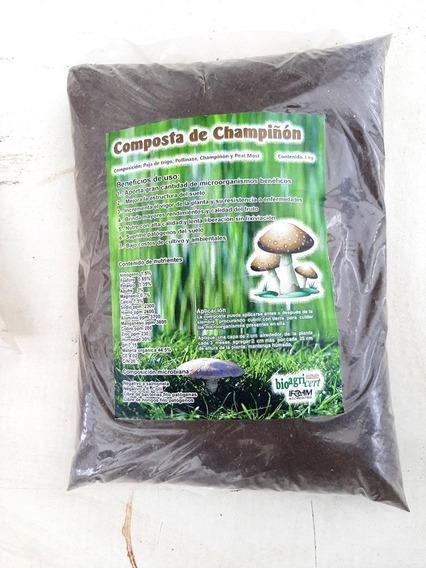 Composta De Champiñon Abono Orgánico Natural, 3 Kilos