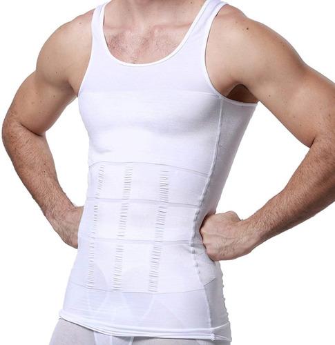 Imagen 1 de 9 de Faja De Hombre Camiseta Reductora Modeladora De Postura Gym