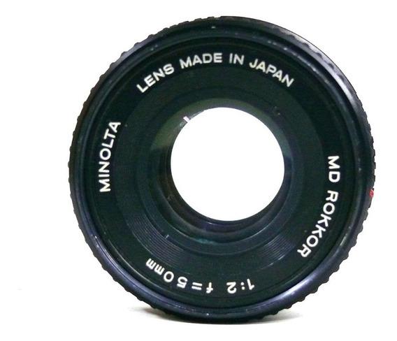 Objetiva Minolta Md Rokkor 50mm 1:2