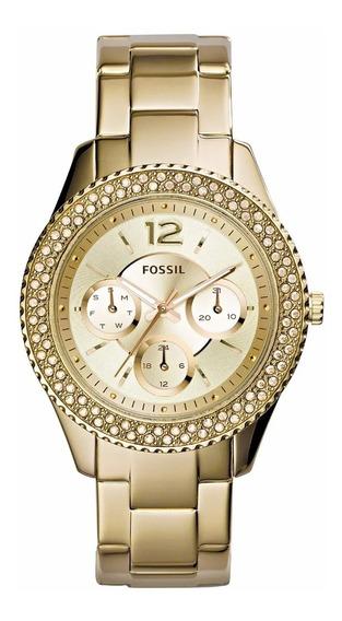 Relógio Feminino Fossil Ladies Gold Es3589 Nota Fiscal