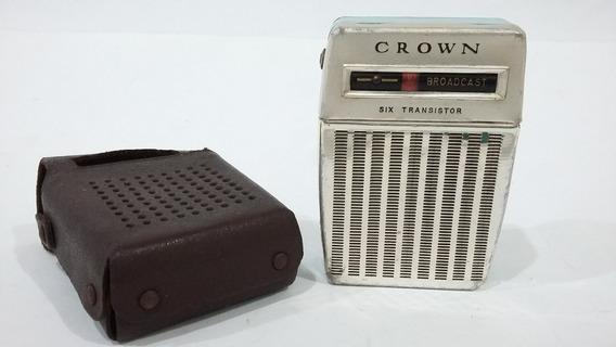 Rádio Am Crown Raridade Funcionando Leia Tudo O Anúncio