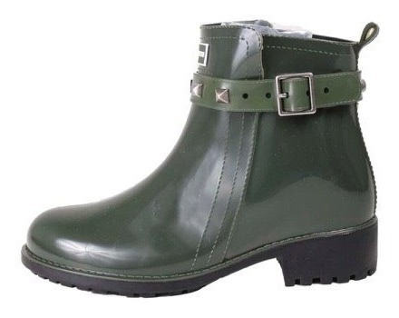 Galocha Bota Késttou Cano Curto Verde Spikes Kt006
