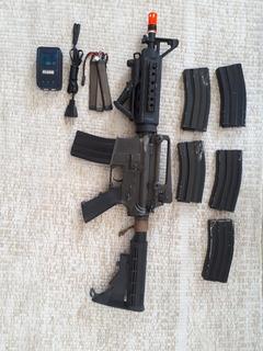 Aeg M4a1 King Arms Full Metal Customizada Airsoft