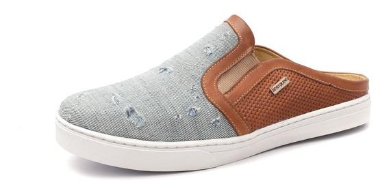 Sapatênis Slip On Mule Jeans Borracha Antiderrapante Estilo