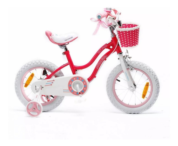 Bicicleta Infantil Royal Baby Star Girl Rosa Niña Rod 14