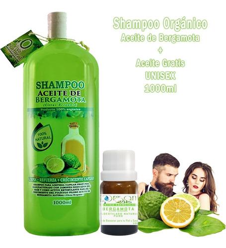 Imagen 1 de 3 de Shampoo De Bergamota 1 Litro Mas Aceite Gratis