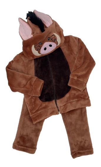 Conjunto Con Gorro Bordado Disney Pumba