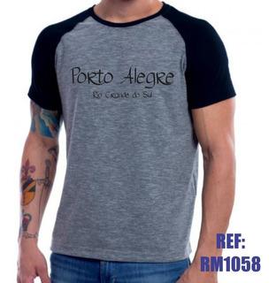 Camisa Raglan Porto Alegre Rio Grande Do Sul Mescla