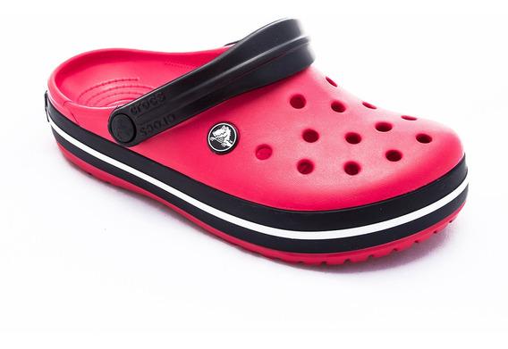 Zueco Crocs Crocband Clog Purpura Mujer