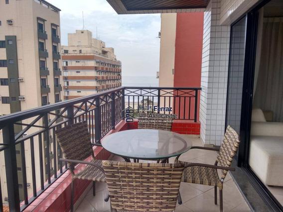 Apartamento Com 4 Dormitórios Para Alugar, 200 M² Por R$ 6.000/mês - Aparecida - Santos/sp - Ap0217