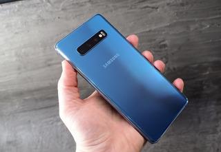 Maravilhoso Galaxy S10 + Plus Azul Nf E Garantia