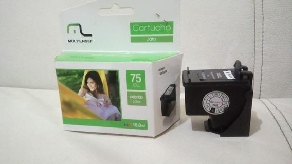 Cartucho Hp 75xl 15ml Multilaser Color Compatival C4480