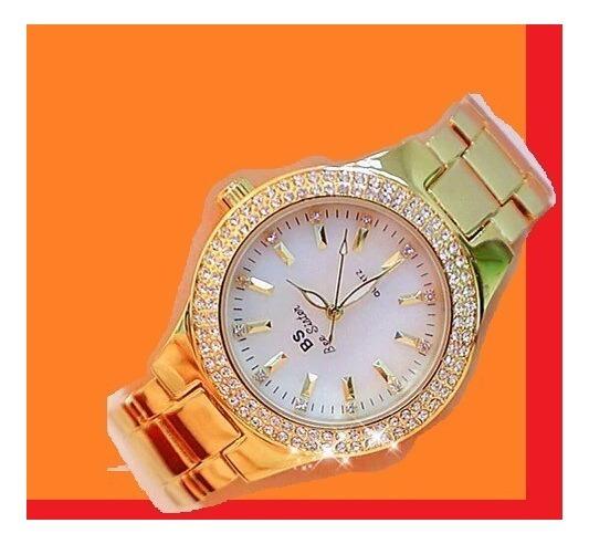 Relógio De Luxo Strass Austríacos Bs Bee Sister Bs1258