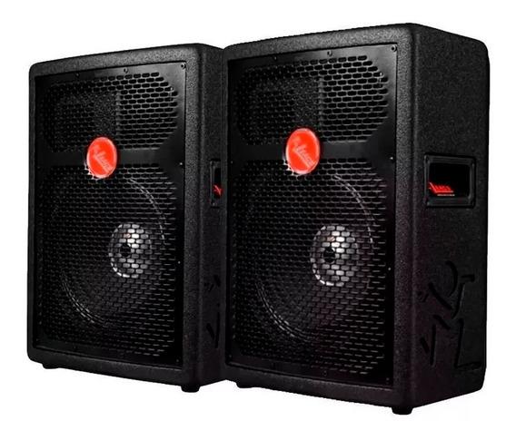 Kit Caixa De Som Ativa + Passiva Leacs Fit160 150w Promoção!