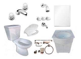 Juego Baño Completo Vanitory Muebles Griferías Sanitarios