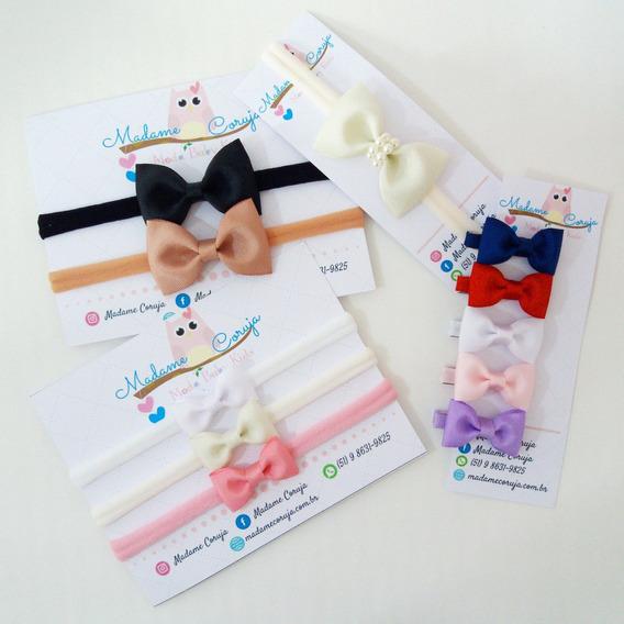 Faixas De Bebê - Kit Com 11 Faixas Laços Enxoval Maternidade