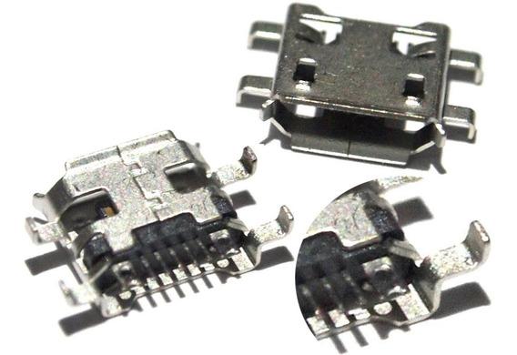 Kit 5 Conector Carga Power Tablet Micro Usb V8 Positivo Ypy