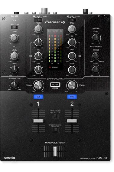 Pioneer Djm S3 Mixer Para Dj 2 Canais Serato / Tc