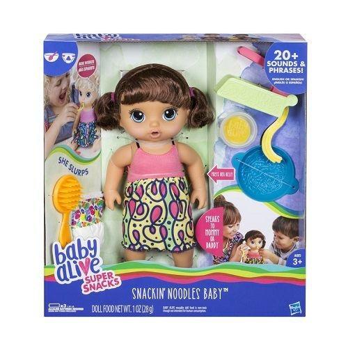 Boneca Baby Alive Espaguete Morena Hasbro C0964 11978