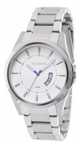 Relógio Technos Masculino Slim Gn10aq/1b Prata Aço