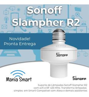 Sonoff Slampher R2 - Socket Wifi E Rf 433 Para Lâmpadas