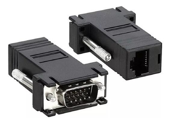 Adaptador Vga Macho Rj45 Conversor Extensor Video Rj45 1 Par