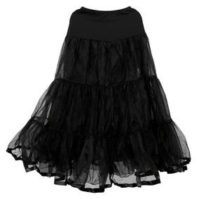 d891d4e9a Falda Larga Negra De 3 Capas De Tul Vestido De Bola De Enagu