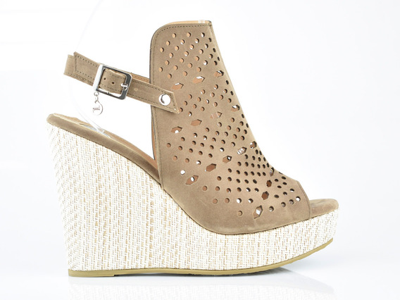 Sandalia Plataforma Para Mujer Lob Footwear 745-9959 Verde Musgo Nuevo Oi19