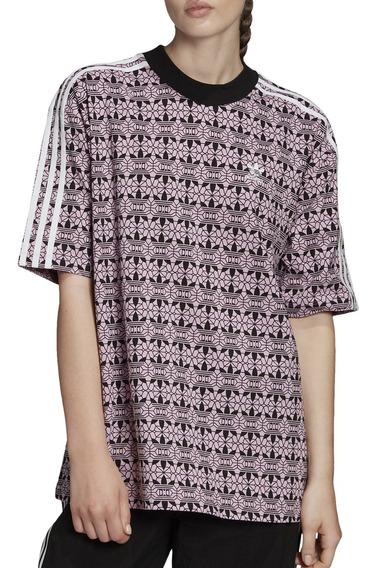 Remera adidas Originals Moda Aop Tee (bf) Mujer Li/ng