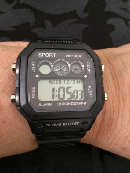 Relógio Masculino De Pulso Luxo Preto Puceira Silicone K2669