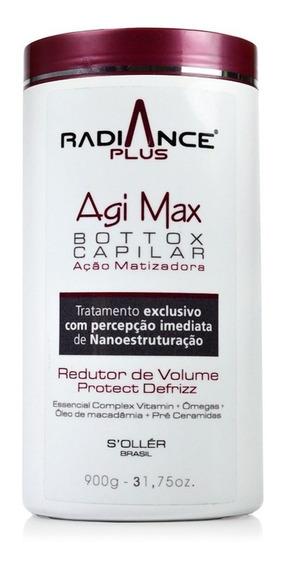 Botox Agimax Radiance Plus Matizador 900gr + Brinde