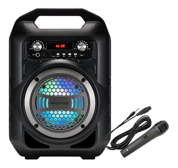 Caixa Som Bluetooth 50w Karaokê Fm Aux P2 Rádio Fm Micro Sd