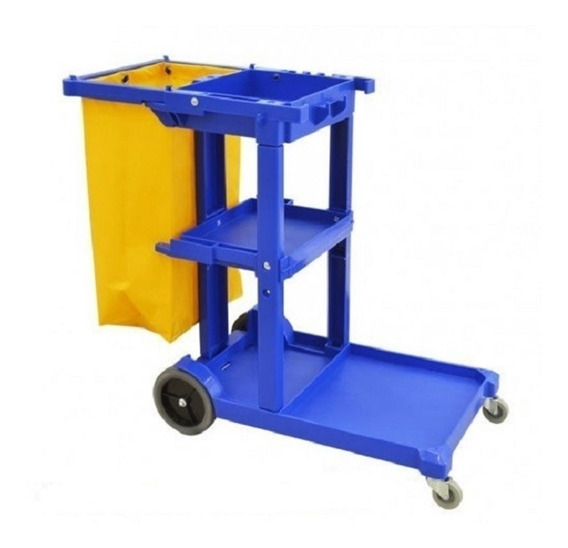 Carro Para Conserje En Color Azul