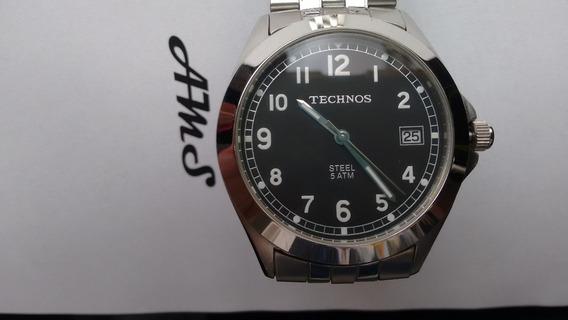 Relógio Technos Classic Steel Todo Em Aço Inoxidável