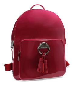Mochila Petite Jolie Kit Bag Feminina Bordô Pj4042