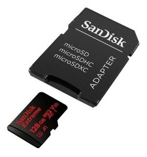 Memoria Micros Sd Sandisk Extreme 128 Gb Go Pro V30 4k A1