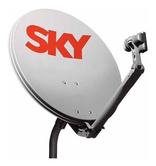 Antena Sky 60cm Ku Completa+10 Mts De Cabo+lnb Frete Gratis