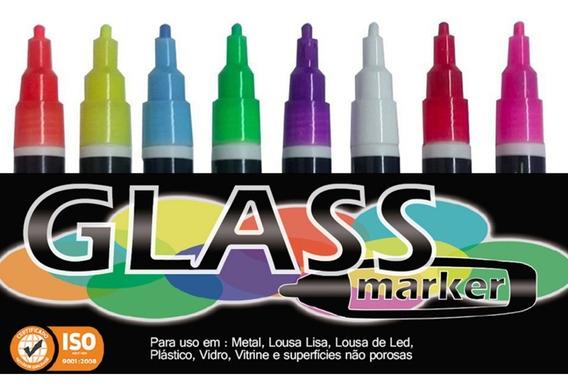 8 Canetas Coloridas A Base De Agua Giz Liquido