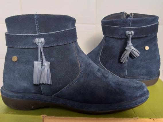 Stitching Botitas Azules De Nobuk Talle 35 Impecables!