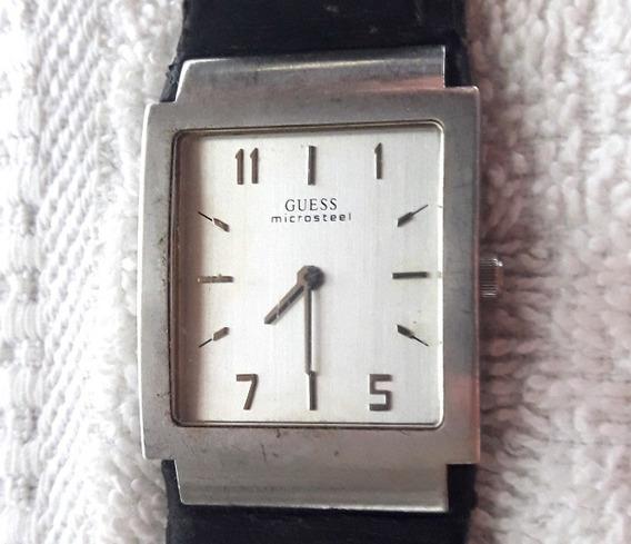 044 RLG- Relógio De Pulso Guess Microsteel- Japan- Antigo- P