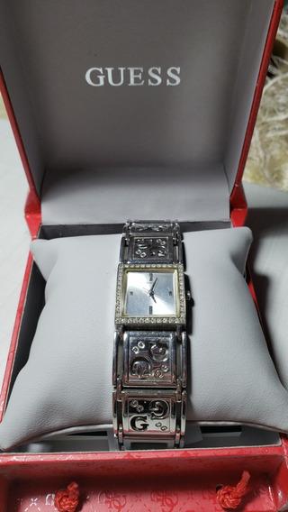 Relógio Guess Aço Inox Original Tipo Pulseira Com Strass