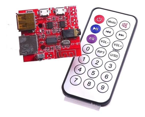 Módulo Mp3 Bluetooth Alto-falante De Carro Som Com Controle