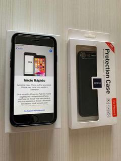 iPhone 7 128gb, Preto Fosco, Com Caixa, Impecável + Brinde