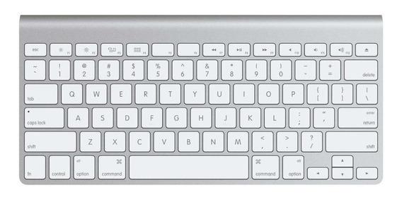 Teclado para pc QWERTY Apple A1314 inglês US branco e cinza