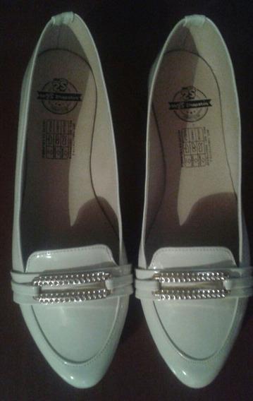 Zapatos Casuales Blancos Talla 40